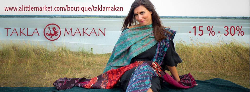 Sale on all Takla Makan ethical fashion creations by Melissa de Valera on alittlemarket.fr