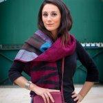 sacs en cuir et textile kantha vintage créé par Melissa de Valera pour Takla Makan