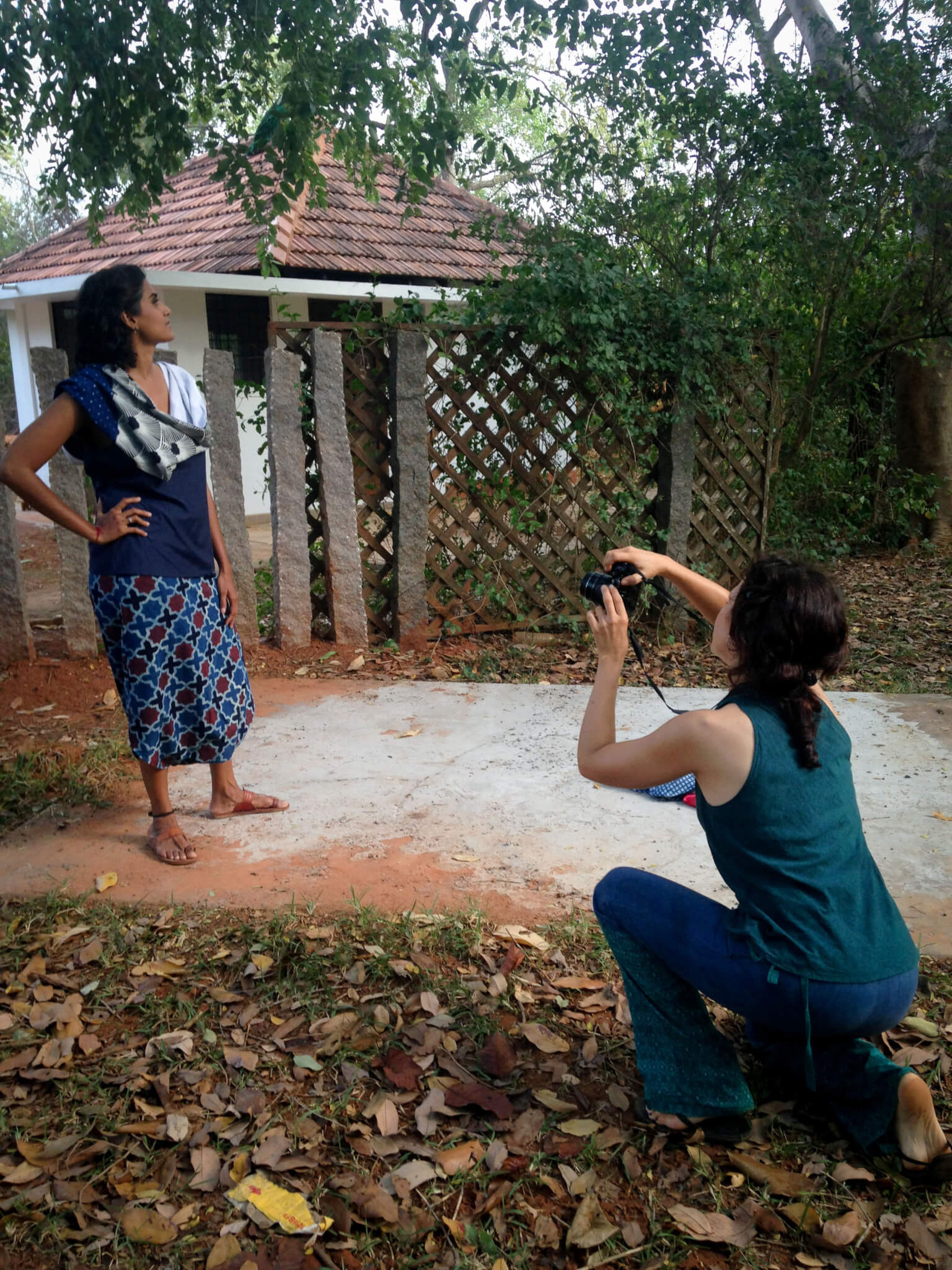 Melissa de valera at work at Takla Makan Photoshoot in Auroville