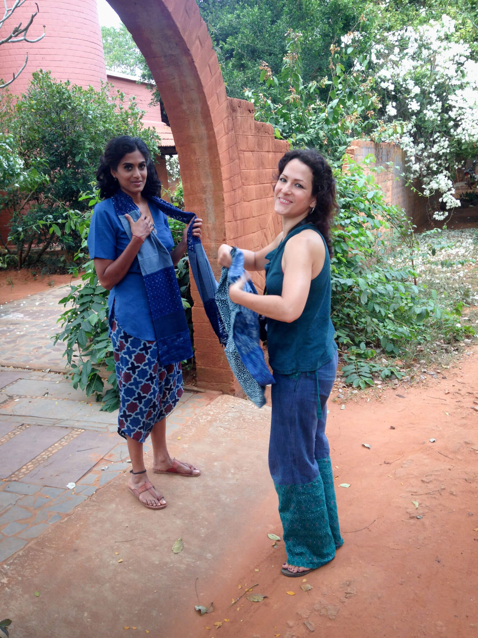 Melissa de valera at work at Takla Makan in Auroville