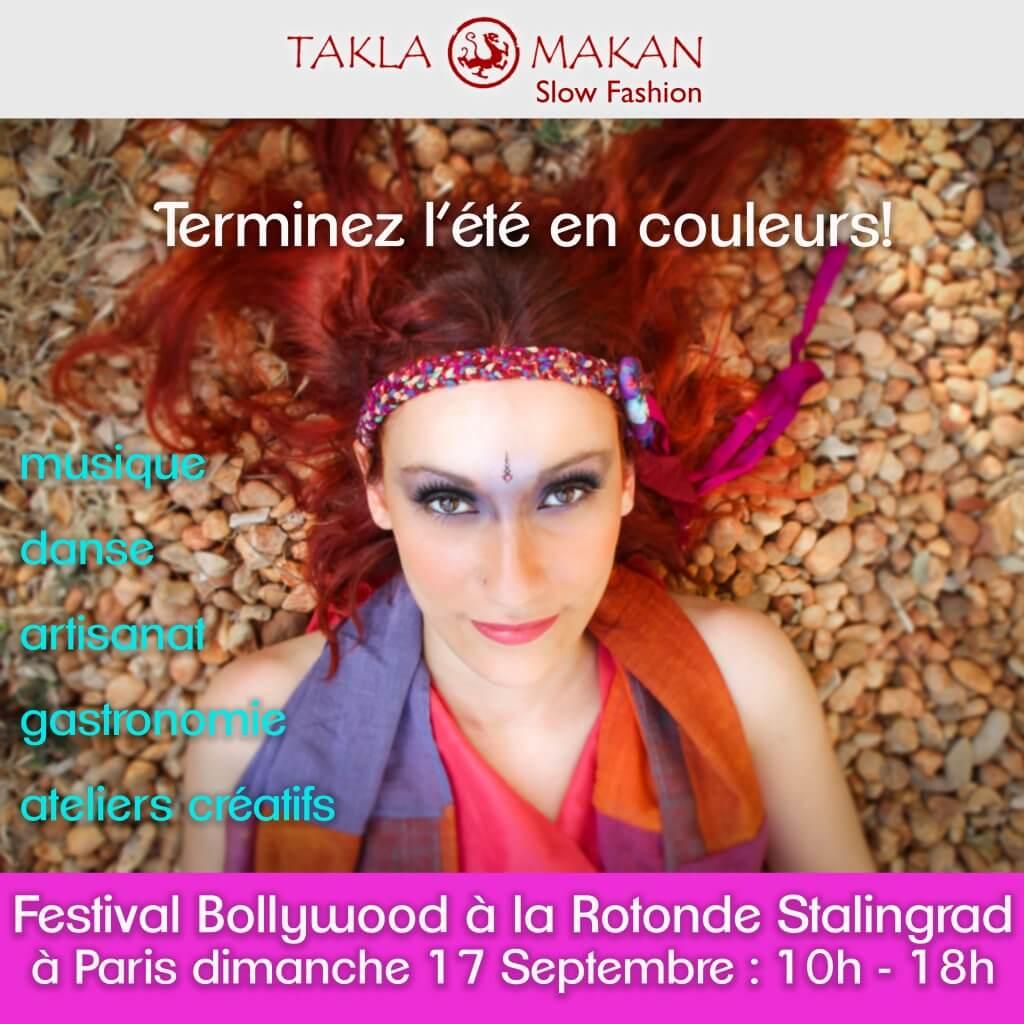 Takla Makan à la rotonde stalingrad pour le festival bollywood organisé par Bolly Deewani