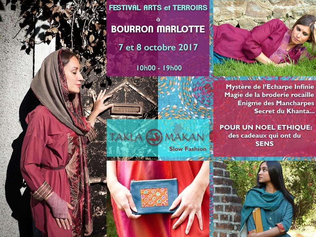 takla makan slow fashion expose au festival arts et terroirs à Bourron-Marlotte